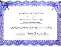 Certificado Nov 13 2016 - Advanced Angel Practitioner - Gloria Consuelo Gómez A.