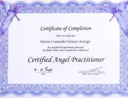 Certificado Sep 9 -11 2016 - Angel Practitioner - Gloria Consuelo Gómez A.
